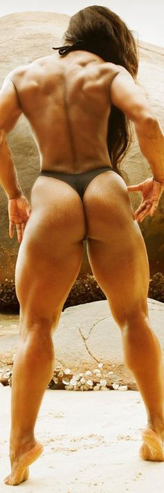 a lot of muscle, but damn that's sexy.........(although if I found out she was on steroids, my mind would no longer find it sexy)