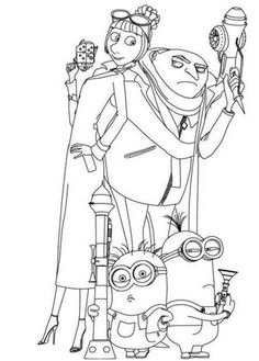 despicable me margo edith and agnes coloring pages kid