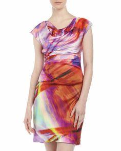 Draped Sheath Dress, Cayenne by Ivy & Blu at Neiman Marcus Last Call.