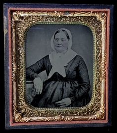 Cased Tintype Quaker Woman in Traditional Clothing 1866 Internal Revenue Stamp | eBay