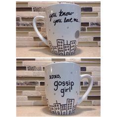 DIY Gossip Girl Coffee Mug