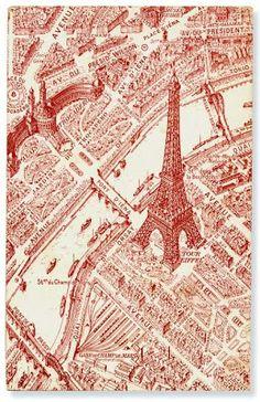 Vintage Paris postcard, Cafe Cartolina