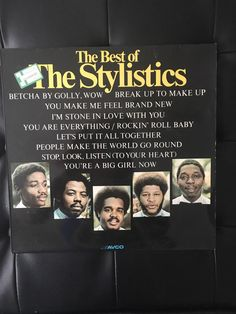 A personal favourite from my Etsy shop https://www.etsy.com/uk/listing/499769788/the-best-of-the-stylistics-original