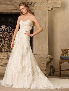 Wedding Dress 2291 Everly by Casablanca Bridal - Search our photo gallery for pictures of wedding dresses by Casablanca Bridal. Find the perfect dress with recent Casablanca Bridal photos. Lace Wedding Dress, Wedding Dress Trends, Bridal Wedding Dresses, Wedding Dress Styles, Designer Wedding Dresses, Bridal Style, Casablanca Bridal, Wedding Gown Gallery, Wedding Dress Pictures