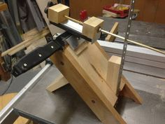 KNIFE SHARPENING JIG        This, believe it or not, started off being a bench rest for target shooting.  See the similarity?  No?  Well the...