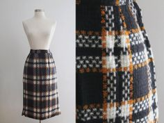 1950s Wool Skirt / Vintage 50s NOS Black by SavvySpinsterVintage, $52.00