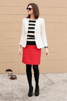 What I Wore: You're Never Fully Dressed without a Smile whatiwore.tumblr.com #stripes #red