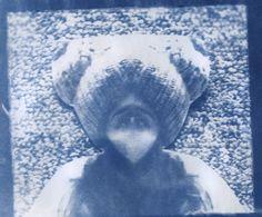 Athena Kathem- self portraits-cyanotype