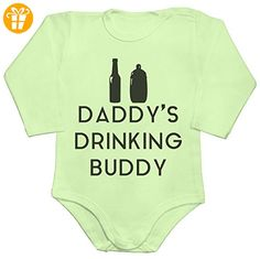 Dads Drinking Buddy Baby Romper Long Sleeve Bodysuit Small - Baby bodys baby einteiler baby stampler (*Partner-Link)