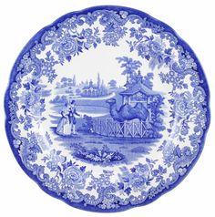 Buy Belinda Janes – Spode Blue Room Dresser Plate The Camel Enclosure online in Australia | Kanga Bulletin