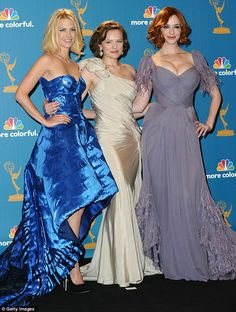 Leading ladies: January Jones, Elizabeth Moss and Christina Hendrix are set for big pay rises as preparations begin for Season 6 of Mad Men