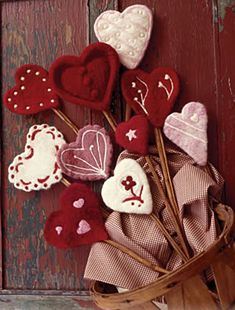Felted heart needle felting kit from Decadent Fibers!  Love!