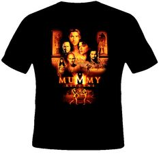 The Mummy Returns Movie T Shirt Yes please 5 of those and Christmas is sorted Movie T Shirts, Childhood, Animation, Christmas, Mens Tops, How To Wear, Movies, Closet, Xmas