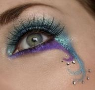 Cute Mardi Gras eye.. could be fun for halloween or something