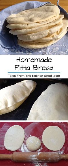 Homemade pitta bread is so easy to make and taste so much better than ready made. The pockets are perfect for all your favourite fillings or eaten with a tasty dip like hummus. Step by step instructions included.