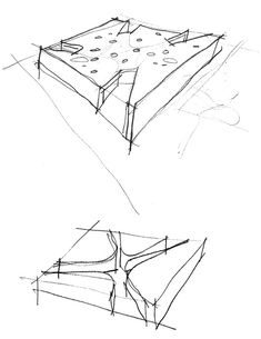 axonometric view plan is true and square isometric view AC Unit Leaking Water gallery of sant josep library ramon esteve 29