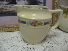 We have a very rare Hall's Superior Quality Kitchenware Pitcher. Floral Design. | eBay!