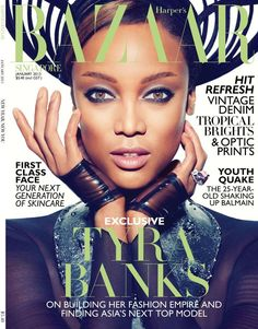 TYRA BANKS | HARPER'S BAZAAR SINGAPORE. JANUARY 2013 COVER