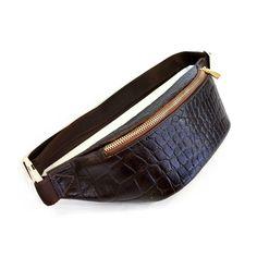 bf798c8d0ca7 Поясная сумка из натуральной кожи с теснением под крокодила Кожаная Сумка, Кожаные  Сумки, Чехлы