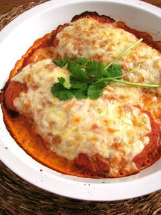 Enchilada Chicken Parmesan - A fascinating history of the Italians in New Mexico and some good fusion of the two cultures in food.