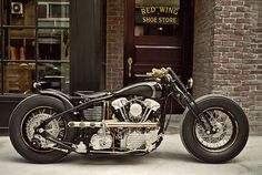 It's built around an S Harley Knucklehead motor, using a kit from legendary 'samurai chopper' builders Zero Engineering.