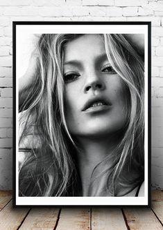 Kate Moss Home Décor Vintage poster Fashion Model Print