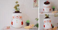 Tento snehuliak nie je len roztomilý, ale aj užitočný . Postráži vám farbičky alebo poslúži ako váza