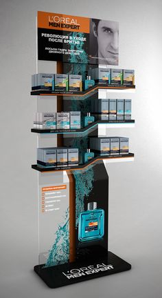 Point of Purchase Design | POP Design | POS Design | Health & Beauty POP | L'Oréal Men display by Stanislav Tsybulsky