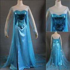 Disney Movie Frozen Elsa Dress Made Cosplay Costume For Adult and Children #Unbranded #CompleteCostume