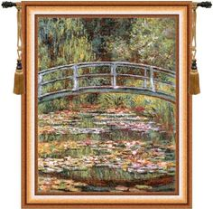 Japanese Bridge Gold European Wall Tapestry