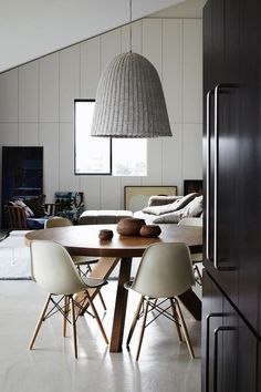 eames chairs, modern living