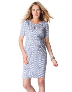 Aztec Front Twist Maternity Dress | Seraphine