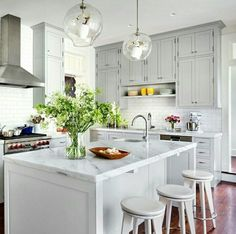 White neat kitchen