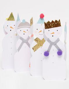 Meri Meri Snowmen Concertina Christmas Card - this would be so fun to make!