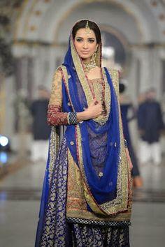 Pakistani Bridal Fashion at Pantene Bridal Couture Week 2013 PBCW Lahore