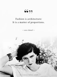 A Woman's Ideal Wardrobe, According to Coco Chanel via @WhoWhatWearUK