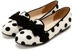 SPUR ドット柄オペラシューズ / polka dot loafers on ShopStyle