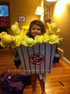 Cutest Little Popcorn Girl Costume for Halloween… Coolest Halloween Costume Contest
