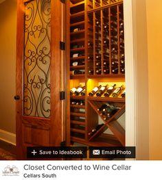 closet turned wine cellar