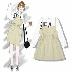 30 New Ideas Fashion Asian Cute Kawaii Korea Fashion, Asian Fashion, Trendy Fashion, Fashion Models, Girl Fashion, Fashion Dresses, Fashion Kids, Kawaii Fashion, Fashion Design Drawings