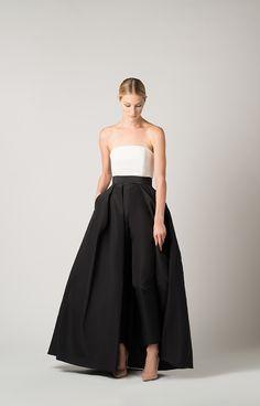 Dress Over Pants, The Dress, Skirt Pants, Bridesmaid Dresses, Prom Dresses, Formal Dresses, Wedding Dresses, Strapless Bustier, Strapless Dress Formal