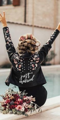 Hottest Trend 18 Wedding Jackets ❤ wedding jackets leather with signature janasnuderl Wedding Vows, Wedding Bells, Dream Wedding, Wedding Day, Wedding Dresses, Wedding Outfits, Diy Wedding, Rustic Wedding, Wedding Jacket