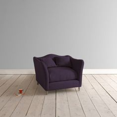Arm Chair Butterfly Armchair in grape clever velvet - Armchairs & Love Seats | Loaf