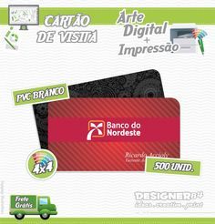 Serviço e Produto: Criação digital de cartão de visita + Impressão + Frete Grátis Brasil