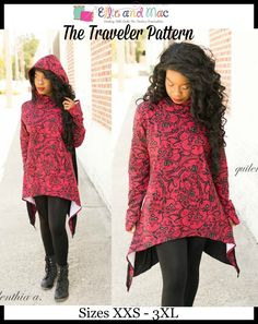 PDF sewing patterns and embroidery applique designs to have you standing out in a crowd.  We make bold looks for all people.