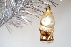 Christmas tree decoration Glass ornaments Golden fox Vintage Christmas ornament by Retronom on Etsy