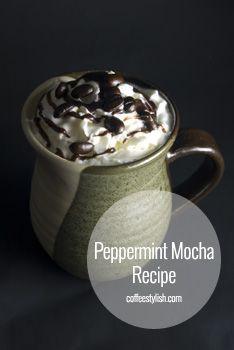 Peppermint Mocha Recipe {simple & delicious} // #Coffee Drinks