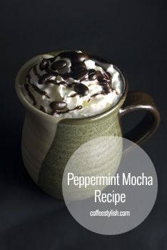 Peppermint Mocha Recipe {simple & delicious} // #Coffee Drinks