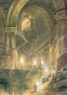 """They buried Thorin deep beneath the Mountain,..."" ~ Alan Lee"