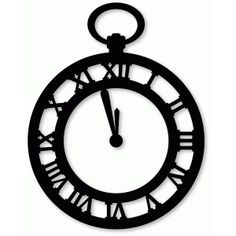 Silhouette Design Store - View Design #72256: pocket watch